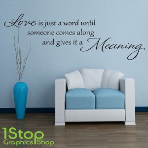 LOVE WORD MEANING WALL STICKER