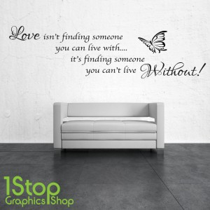 LOVE ISN'T FINDING SOMEONE WALL STICKER