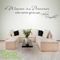 NELSON MANDELA DREAMER WALL STICKER QUOTE - BEDROOM WALL ART DECAL X118