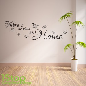Awesome THERES NO PLACE LIKE HOME WALL STICKER