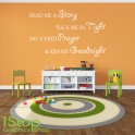 READ ME A STORY WALL STICKER QUOTE - BEDROOM GIRLS BOYS WALL ART DECAL X121