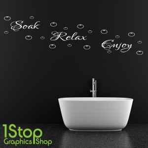 SOAK RELAX ENJOY WALL STICKER