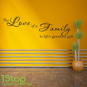 THE LOVE OF A FAMILY WALL STICKER