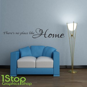 THERES NO PLACE LIKE HOME WALL STICKER