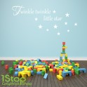 TWINKLE TWINKLE WALL STICKER QUOTE - KIDS BOYS GIRLS HOME WALL ART DECAL X132