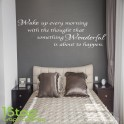 WAKE UP EVERY MORNING WALL STICKER QUOTE - HOME LOUNGE LOVE WALL ART DECALX138
