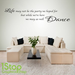 LIFE DANCE WALL STICKER