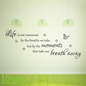LIFE IS NOT MEASURED WALL STICKER