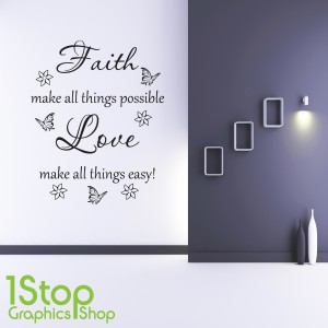 FAITH LOVE WALL STICKER