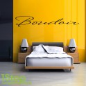 BOUDOIR WALL STICKER QUOTE - BEDROOM HOME WALL ART DECAL X152