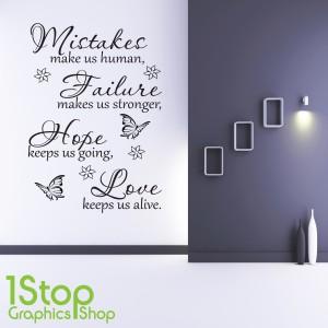 HOPE LOVE WALL STICKER