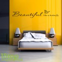 BEAUTIFUL LIKE A BUTTERFLY WALL STICKER