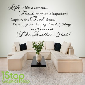 LIFE IS LIKE A CAMERA WALL STICKER
