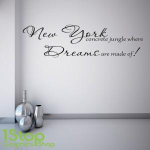 ALICIA KEYS NEW YORK WALL STICKER
