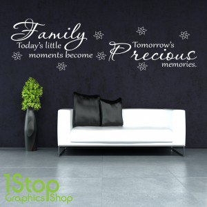 FAMILY MOMENTS PRECIOUS WALL STICKER