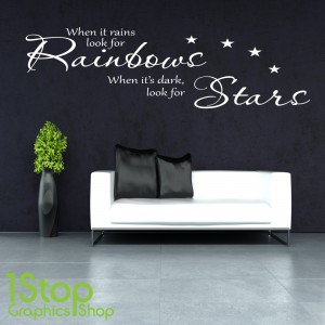 WHEN IT RAINS WALL STICKER