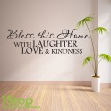 BLESS THIS HOUSE WALL STICKER QUOTE - BEDROOM LOUNGE LOVE WALL ART DECAL X169