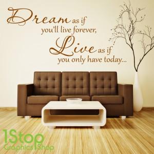 DREAM LIVE WALL STICKER