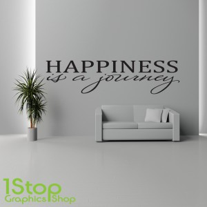 HAPPINESS IS A JOURNEY WALL STICKER
