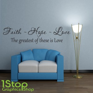 FAITH HOPE LOVE WALL STICKER
