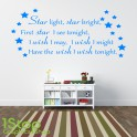 STAR LIGHT STAR BRIGHT WALL STICKER QUOTE - KIDS BOYS GIRLS WALL ART DECAL X192