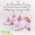A WEE BIT OF HEAVEN WALL STICKER QUOTE - BABY NURSERY WALL ART DECAL X233