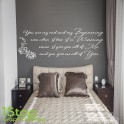 JOHN LEGEND BEGINNING WALL STICKER QUOTE - BEDROOM HOME WALL ART DECAL X243