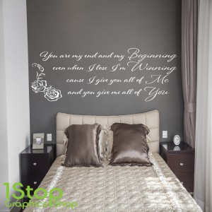 JOHN LEGEND BEGINNING WALL STICKER Part 45