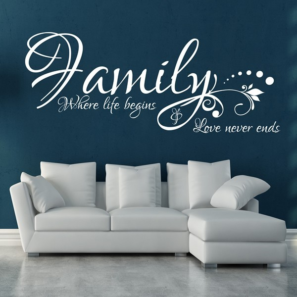 Family Where Life Begins 1stopgraphicsshop Wall Decals