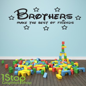 BROTHERS MAKE THE BEST OF FRIENDS WALL STICKER