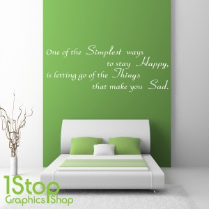 SIMPLY HAPPY WALL STICKER
