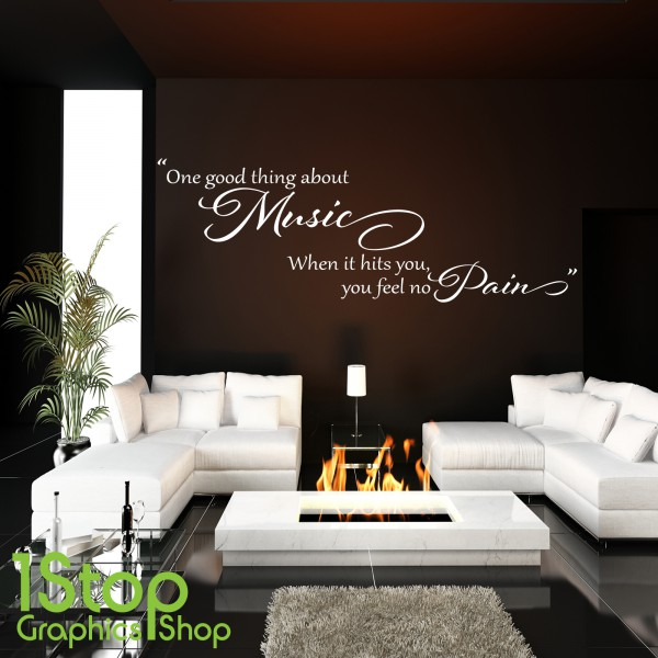 music designs bob marley one good thing wall sticker quote bedroom