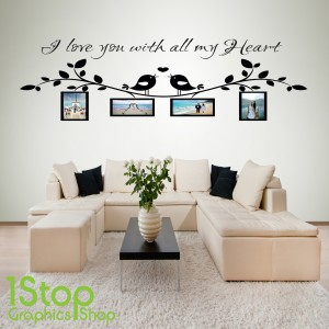 I LOVE YOU PERSONALISED PHOTO WALL STICKER