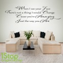 BRUNO MARS AMAZING WALL STICKER QUOTE - BEDROOM LOVE WALL ART DECAL X227