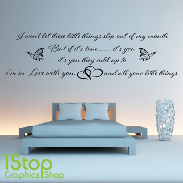one direction wall sticker quote bedroom love harry one direction beautiful lyrics wall sticker world of