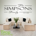 FAMILY PERSONALISED WALL STICKER QUOTE - BEDROOM LOUNGE WALL ART DECAL X275