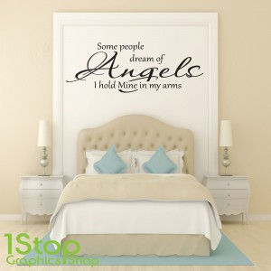 SOME PEOPLE DREAM OF ANGELS WALL STICKER