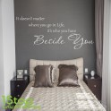 IT DOESN'T MATTER WHERE YOU GO IN LIFE WALL STICKER QUOTE - WALL ART DECAL X280