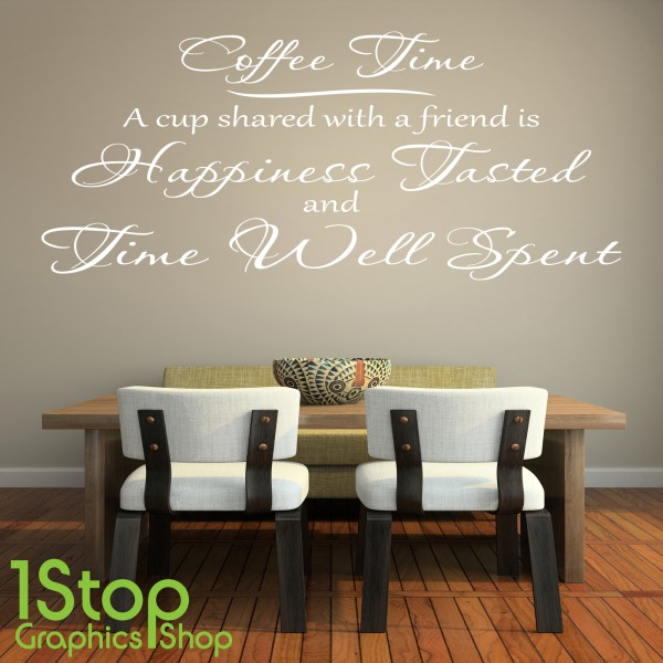 COFFEE TIME WALL STICKER QUOTE