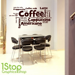 COFFEE WORDS WALL STICKER