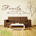 FAMILY FOREVER IN MY HEART WALL STICKER