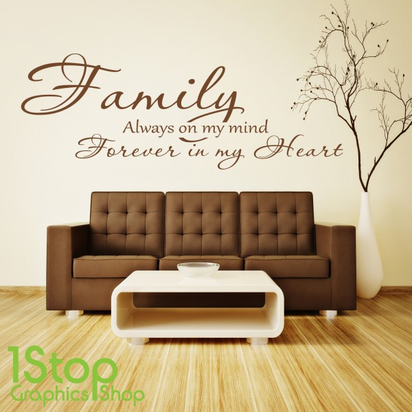 family forever in my heart wall sticker quote bedroom stickythings wall stickers south africa wall stickers