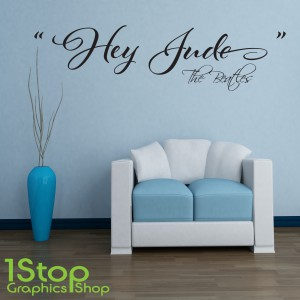 THE BEATLES HEY JUDE WALL STICKER