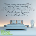 I WILL ALWAYS BE YOURS WALL STICKER
