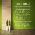 LOVE RULES WALL STICKER