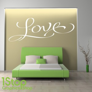 LOVE WALL STICKER QUOTE
