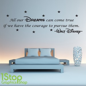 Charming DISNEY WALL STICKER QUOTE