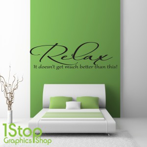 RELAX UNWIND WALL STICKER