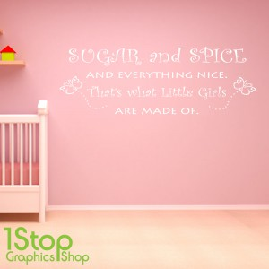 SUGAR AND SPICE WALL STICKER